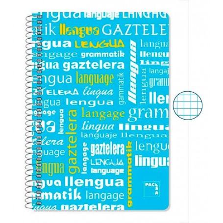 Cuaderno Folio Cuadriculado Lengua
