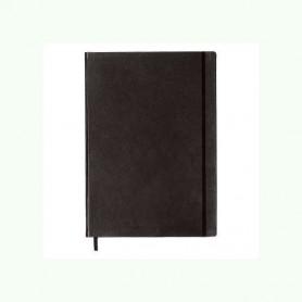 Notebook Master Cuero Negro con lineas