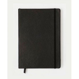 Notebook Medium Cuero Negro Hoja Lisa