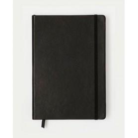 Notebook Medium Cuero Negro con Líneas