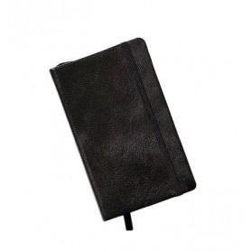 Notebook Pocket Cuero Negro con Líneas