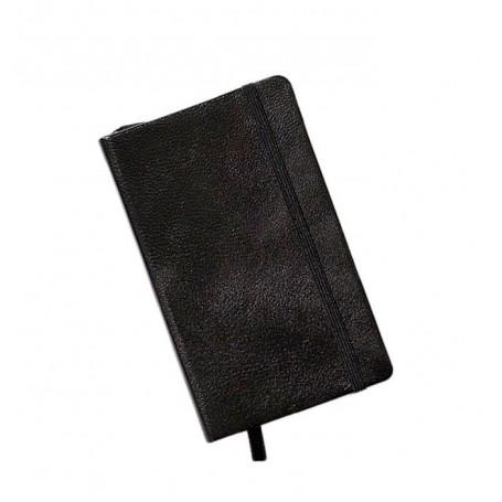 Notebook Pocket Cuero Negro Hoja Lisa Leuchtturm