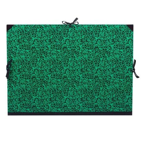 Carpeta 72 x 52 cm Verde con Cintas, Lefranc