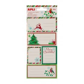Pegatinas Apli Regalo Navidad Reno