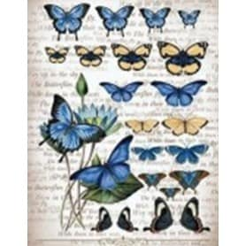 Papel arroz 196 Mariposas Azules Cadence