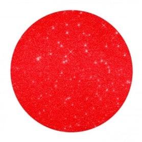Bajoplato Glitter Rojo 33 cm