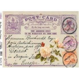 Papel arroz 415 Postcard Violetas Cadence