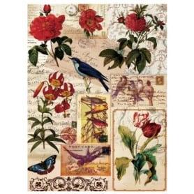 Papel arroz 049 Flores y Pájaros Cadence