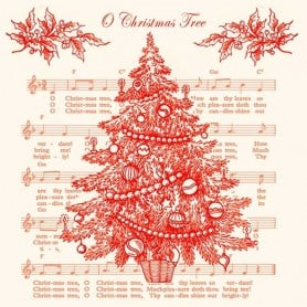 Servilletas Árbol Rojo de Navidad