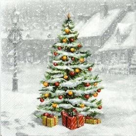 Servilletas Gris Árbol de Navidad