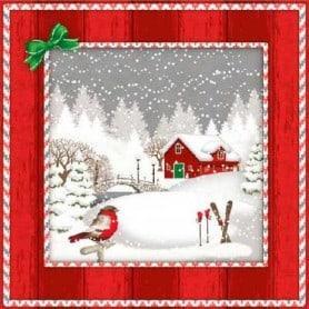 Servilletas Paisaje de Navidad Nevado