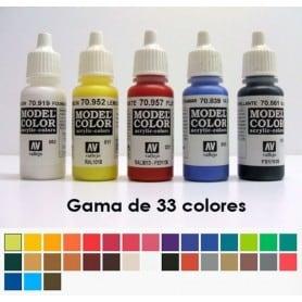 Acrílico Líquido Vallejo 32 ml - Gama 33 Colores