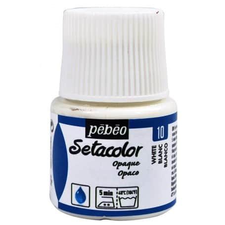 Setacolor Opaco 10 Blanco Pebeo
