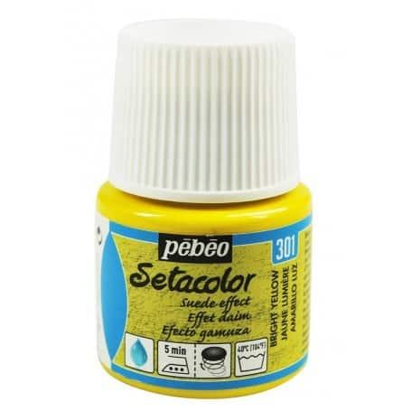 Setacolor efecto ante 301 Amarillo Luz 45 ml