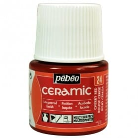 Pintura Ceramic Rojo Cereza 45 ml nº24