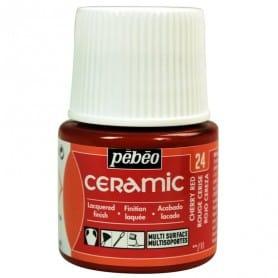 Pintura Ceramic Rojo Cereza 45 ml