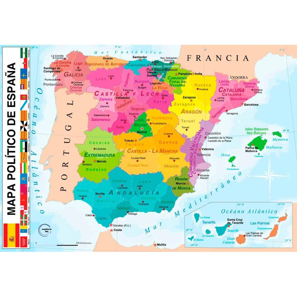 Mapa De España Actualizado.Mapas De Espana 2019 Mas De 250 Imagenes Actuales Para