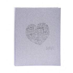 Libro de Oro Firmas 27x22 Just Married Plata