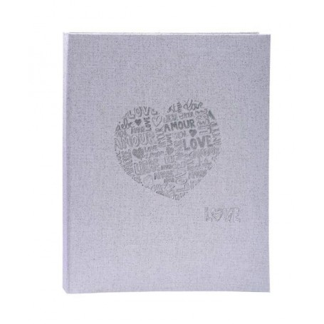 Libro de Oro Firmas 27x22 Just Married Plata