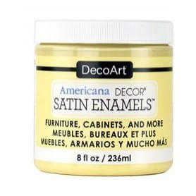 Americana Decor Satin Enamels Butter Yellow 236 ml