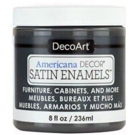 Americana Decor Satin Enamels Charcoal Grey 236 ml
