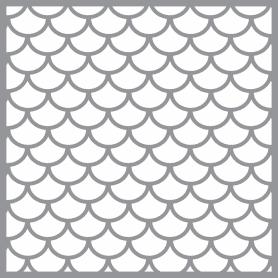 Plantilla Stencil 30,5x 30,5 cm Simetría escamas