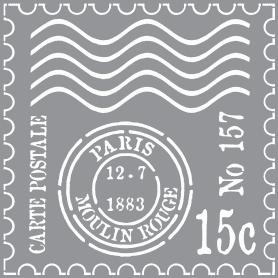 Plantilla Stencil 30,5x 30,5 cm Matasellos Paris