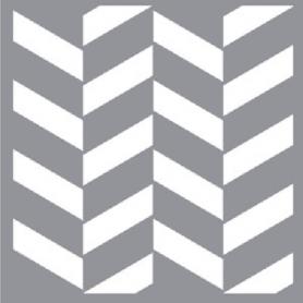 Plantilla Stencil 30,5x 30,5 cm Zig-Zag