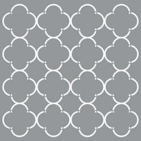 Plantilla Stencil 30,5x 30,5 cm Simetría flores