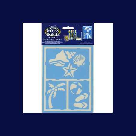 Plantilla Stencil adhesiva 15x20 cm Vacaciones