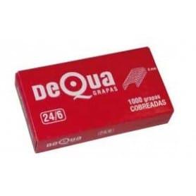 Caja 1000 grapas Dequa 24/6 Cobreadas