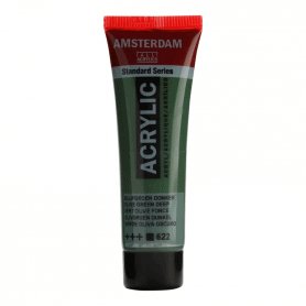 Acrílico Amsterdam 622 20 ml Verde oliva oscuro