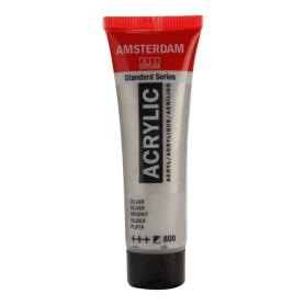 Acrílico Amsterdam 800 20 ml Plata