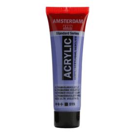 Acrílico Amsterdam 519 20 ml Azul ultramar violeta claro