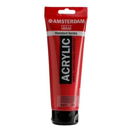Acrílico Amsterdam 317 250 ml Rojo Transparente Medio