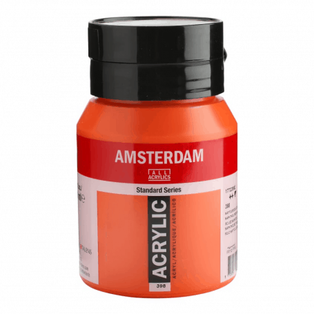 Acrílico Amsterdam 398 500 ml Rojo Naftol Claro
