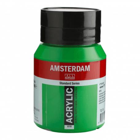 Acrílico Amsterdam 618 500 ml Verde Permanente Claro