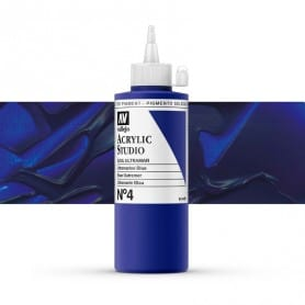 Acrílico Studio Vallejo 200 ml 004 Azul Ultramar