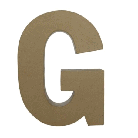 Letra G Fantasía 30cm