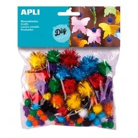 Pompones Colores Brillantes, Apli