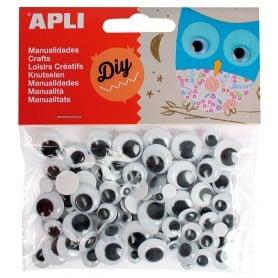 Ojos Móviles Redondos Adhesivos, Apli