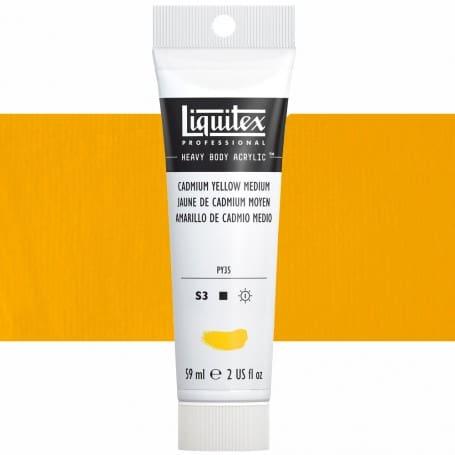 Amarillo Cadmio Medio 161 S3 59 ml Acrílico Liquitex Heavy Body