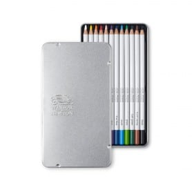 Set 12 Lápices Colores Mina Suave, Winsor & Newton