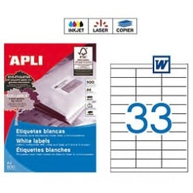 Etiquetas Apli 10559 Medidas 70 x 25,4 mm