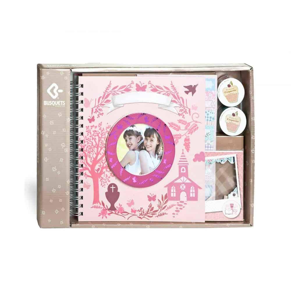 979a6aaad Álbum Comunión Skrapbook Paspartú Rosa, Busquets