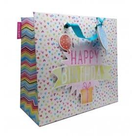 Bolsa Happy Birthday 28x25x11 cm