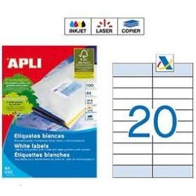 Etiquetas Apli 12330 Medidas 105 x 33,5 mm + 105 x 28,75 mm