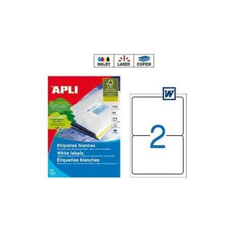 Etiquetas Apli 2423 Medidas 99,1 x 144,5 mm