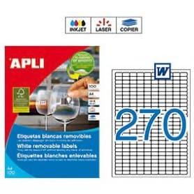 Etiquetas Apli 10197 Removibles 17,8 x 10 mm