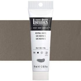 Gris Neutro 599 S1 59 ml Acrílico Liquitex Heavy Body